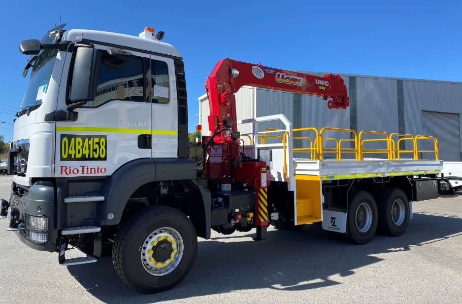 Mine Crane Truck Tray Build Perth Western Australia