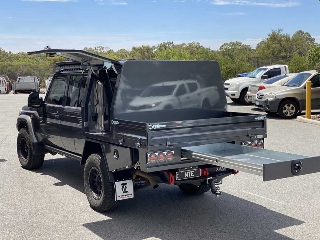 Toyota Landcruiser VDJ79 custom canopy build TL Engineering Perth