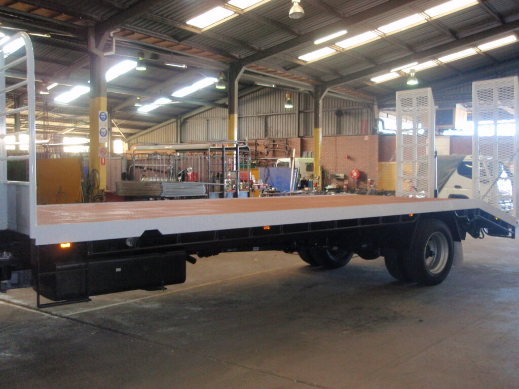 New beaver tail trays truck made by TL Engineering Perth WA