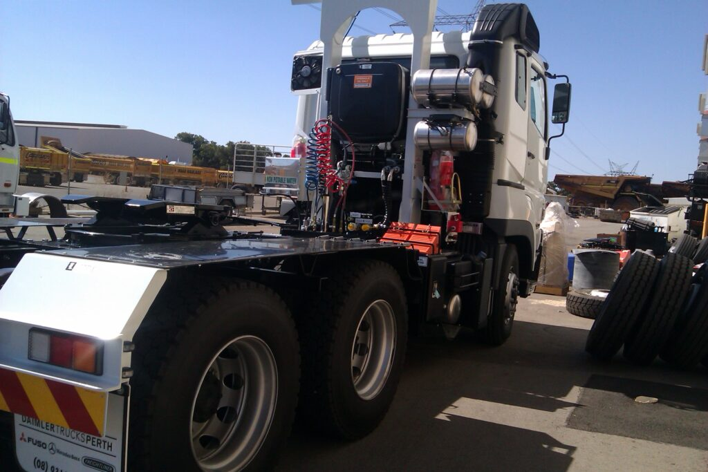 Truck prime mover upgrade in Perth by TL Engineering.