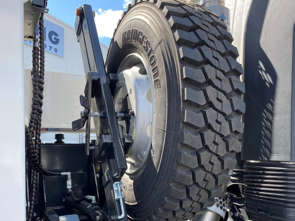 Buy fitted Truck Spare Wheel Carrier on sale by TL Engineering Perth WA