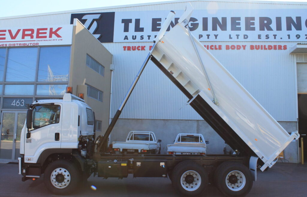 New quality steel or Hardox Steel truck tipper made and fitted by TL Engineering Perth WA
