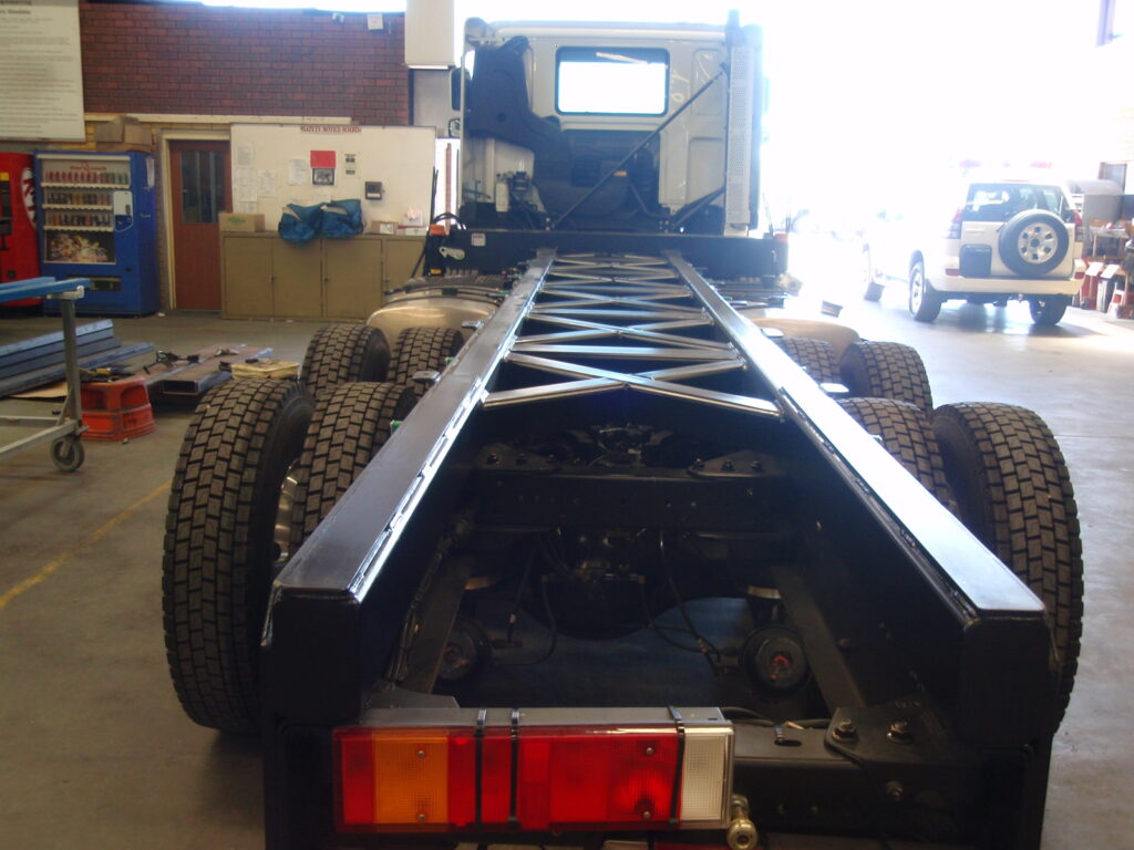 New strong truck chasis made in Perth by TL Engineering.