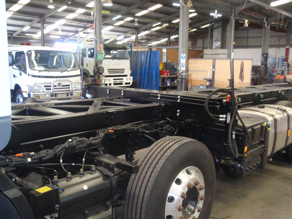 Truck chasis built strong in Perth by TL Engineering.